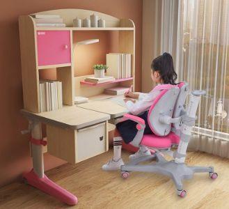 坐得正儿童实木学习桌椅套装 小学生家用写字桌椅5003-5007系列